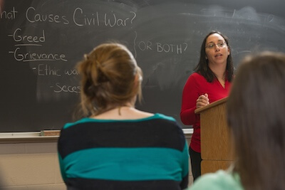 a classroom lecture on the causes of civil war